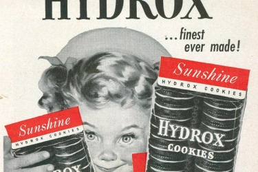 Early promo image for Hydrox cookies